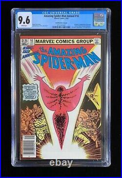 Amazing Spider-man Annual 16 1st New Captain Marvel Cpv Canadian Variant Cgc 9.6