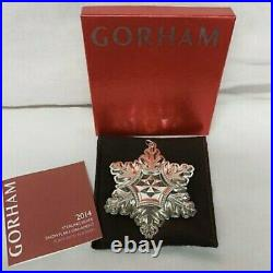 Gorham 45th Edition Annual 2014 Sterling Silver Snowflake Ornament
