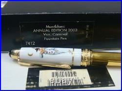 Montblanc Annual Edition 2003 Ven. Carnival Fountain Pen SEALED 7412 23766