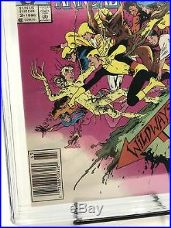 New Mutants Annual #2 Newsstand Edition CGC 9.6 1st Appearance of Psylocke