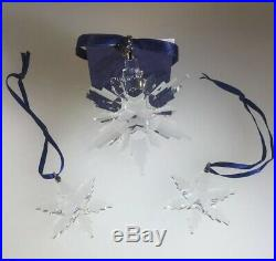 Swarovski Annual Edition 2006 Christmas Star Ornaments SET 860748. New And Boxed